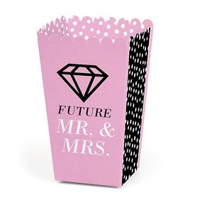 Omg, You're Getting Married - Engagement Party Favor Popcorn Treat Boxes - Set of 12