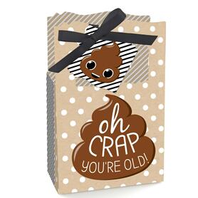 Oh Crap, You're Old - Poop Birthday Party Favor Boxes - Set of 12