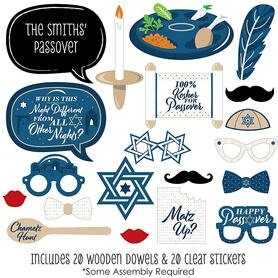 Happy Passover - 20 Piece Pesach Jewish Holiday Party Photo Booth Props Kit