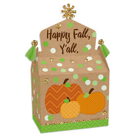 Pumpkin Patch - Treat Box Party Favors - Fall, Halloween or Thanksgiving Party Goodie Gable Boxes - Set of 12