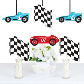Let's Go Racing - Racecar - Decorations DIY Race Car Birthday Party or Baby Shower Essentials - Set of 20