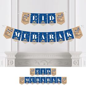 Ramadan - Eid Mubarak Bunting Banner - Party Decorations - Eid Mubarak
