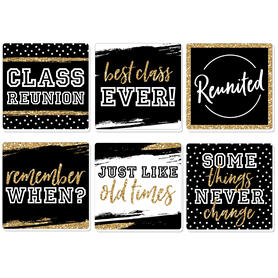 Reunited - School Class Reunion Party Decorations - Drink Coasters - Set of 6