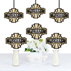 Roaring 20's - 1920s Art Deco Jazz Decorations DIY Twenties Party Essentials - Set of 20