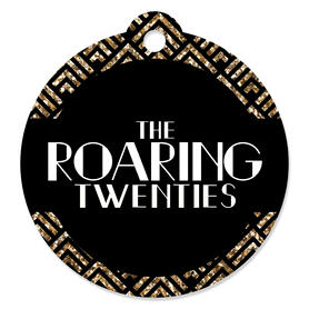 Roaring 20's - 1920s Art Deco Jazz Party Favor Gift Tags (Set of 20)