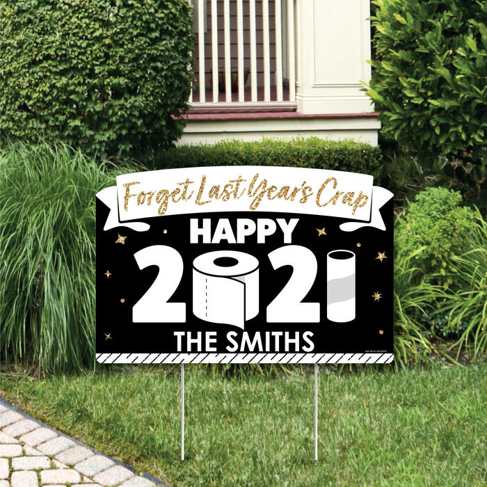 Rollin' in the New Year - 2021 New Year's Eve Party Yard Sign Lawn Decorations - Personalized Party Yardy Sign