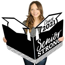 Senior Strong - Class of 2021 Graduation Giant Greeting Card - Big Shaped Jumborific Card - 16.5 x 22 inches