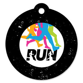 Set The Pace - Running - Track, Cross Country or Marathon Party Favor Gift Tags (Set of 20)