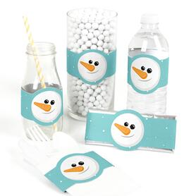 Let It Snow - Snowman - DIY Holiday & Christmas Party Wrapper - 15 ct