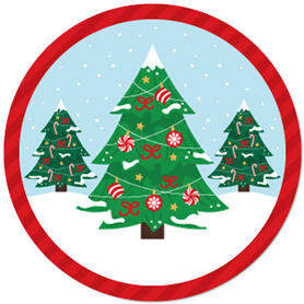 Snowy Christmas Trees - Classic Holiday Party Theme