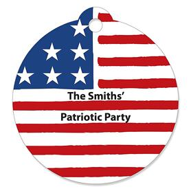 Stars & Stripes - Personalized Patriotic Memorial Day Party Favor Gift Tags - 20 ct