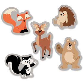 Stay Wild - Forest Animals - DIY Shaped Woodland Baby Shower or Birthday Party Cut-Outs - 24 ct