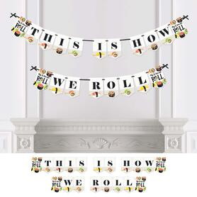 Let's Roll - Sushi - Japanese Party Bunting Banner - Party Decorations - This is How We Roll