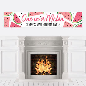 Sweet Watermelon - Personalized Fruit Party Banner