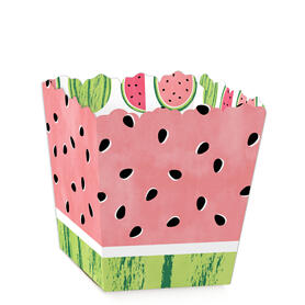 Sweet Watermelon - Party Mini Favor Boxes - Fruit Party Treat Candy Boxes - Set of 12