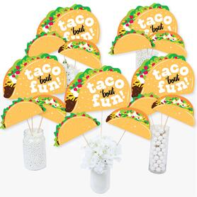 Taco 'Bout Fun - Mexican Fiesta Centerpiece Sticks - Table Toppers - Set of 15