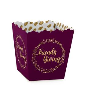 Elegant Thankful for Friends - Party Mini Favor Boxes - Friendsgiving Thanksgiving Party Treat Candy Boxes - Set of 12