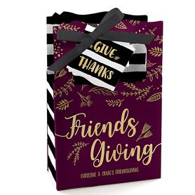 Elegant Thankful for Friends - Personalized Friendsgiving Party Favor Boxes - Set of 12