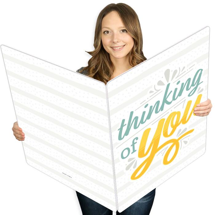 Thinking of You - Just Because Giant Greeting Card - Big Shaped Jumborific Card - 16.5 x 22 inches