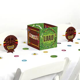 Tiki Luau - Tropical Hawaiian Summer Party Centerpiece and Table Decoration Kit