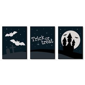 Trick or Treat - Halloween Wall Art and Room Decor - 7.5 x 10 inches - Set of 3 Prints