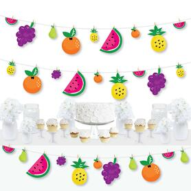 Tutti Fruity - Frutti Summer Baby Shower or Birthday Party DIY Decorations - Clothespin Garland Banner - 44 Pieces