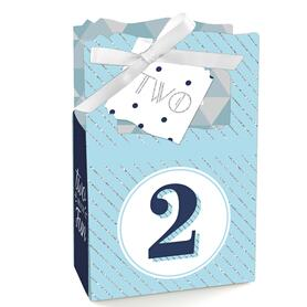 Two Much Fun - Boy - 2nd Birthday Party Favor Boxes - Set of 12