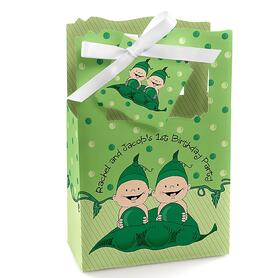 Twins Two Peas in a Pod - Personalized Birthday Party Favor Boxes - Set of 12