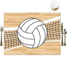 Bump, Set, Spike - Volleyball - Party Table Decorations - Baby Shower or Birthday Party Placemats - Set of 16