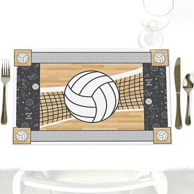 Bump, Set, Spike - Volleyball - Party Table Decorations - Party Placemats - Set of 12
