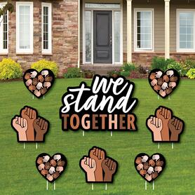 We Stand Together - Yard Sign and Outdoor Lawn Decorations - We Believe Yard Signs - Set of 8