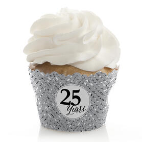 We Still Do - 25th Wedding Anniversary - Wedding Anniversary Decorations - Party Cupcake Wrappers - Set of 12