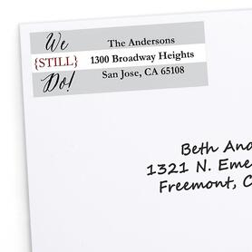 We Still Do - 40th Wedding Anniversary - Personalized Wedding Anniversary Return Address Labels - 30 ct