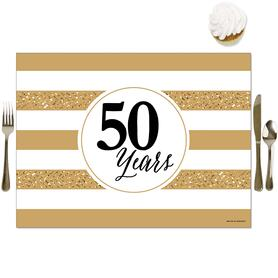 We Still Do - 50th Wedding Anniversary - Party Table Decorations - Anniversary Party Placemats - Set of 16