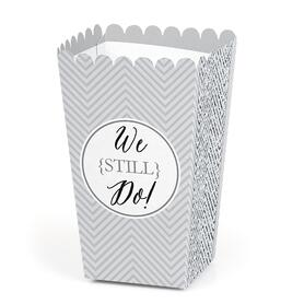 We Still Do - Wedding Anniversary Party Favor Popcorn Treat Boxes - Set of 12