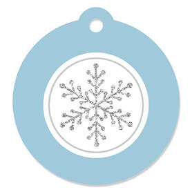Winter Wonderland - Snowflake Holiday Party and Winter Wedding Favor Gift Tags (Set of 20)