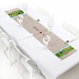 Woodland Creatures - Baby Shower or Birthday Party Petite Table Runner