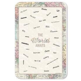World Awaits - Guest Book Sign - Travel Themed Party Guestbook Alternative - Signature Mat