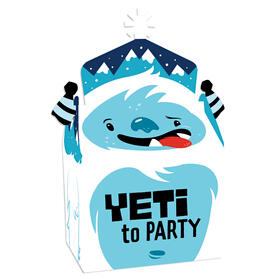 Yeti to Party - Treat Box Party Favors - Abominable Snowman Party or Birthday Party Goodie Gable Boxes - Set of 12