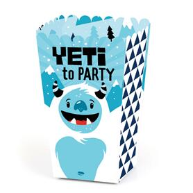 Yeti to Party - Abominable Snowman Party or Birthday Party Favor Popcorn Treat Boxes - Set of 12