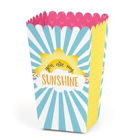 You are My Sunshine - Baby Shower or Birthday Party Favor Popcorn Treat Boxes - Set of 12