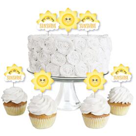 You Are My Sunshine - Dessert Cupcake Toppers - Baby Shower or Birthday Party Clear Treat Picks - Set of 24