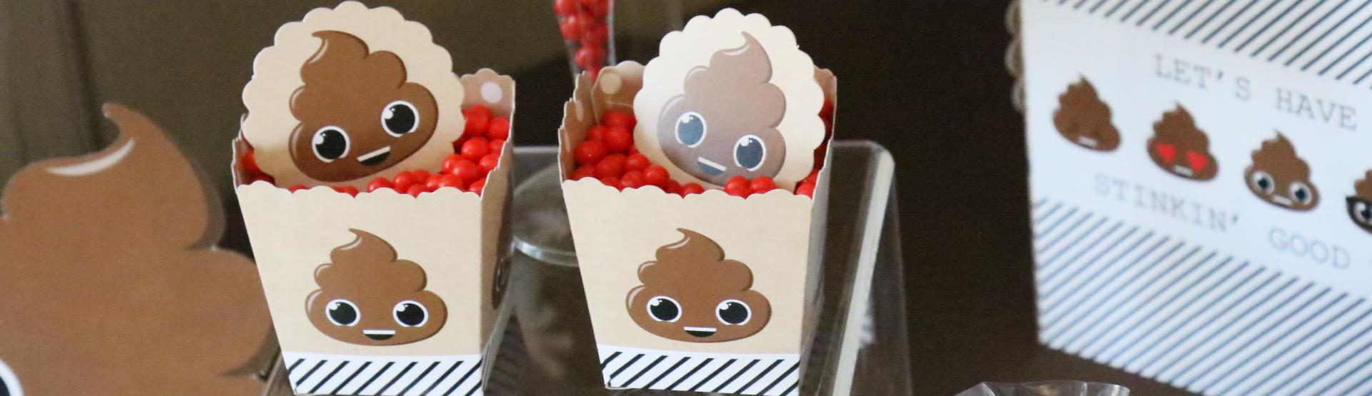 Party Til You're Pooped - Poop Emoji Party ideas